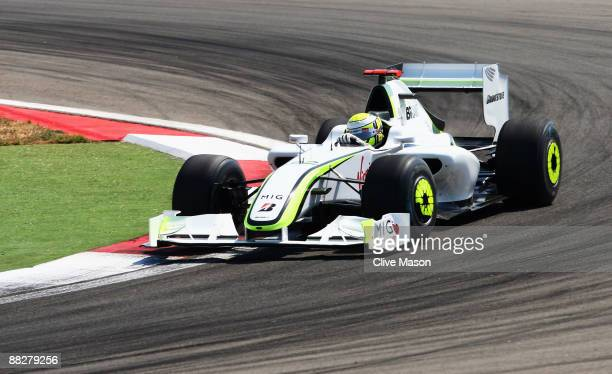 Jenson Button of Great Britain and Brawn GP drives on his way to winning the Turkish Formula One Grand Prix at Istanbul Park on June 7 in Istanbul,...