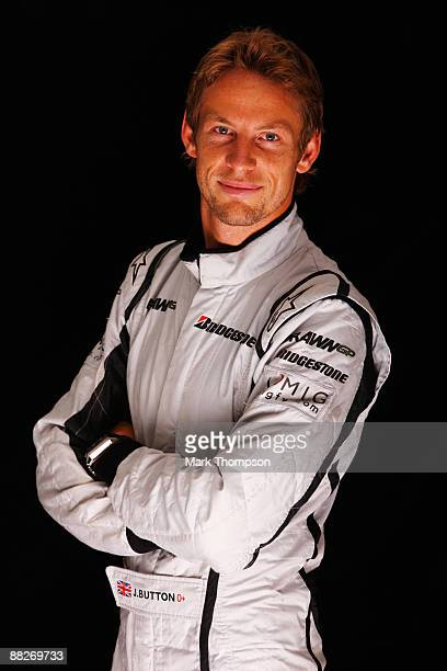 Jenson Button of Great Britain and Brawn GP poses for a photograph following qualifying for the Turkish Formula One Grand Prix at Istanbul Park on...