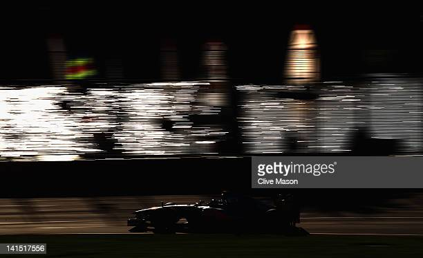 Jenson Button of Great Britain and McLaren drives on his way to winning the Australian Formula One Grand Prix at the Albert Park circuit on March 18...