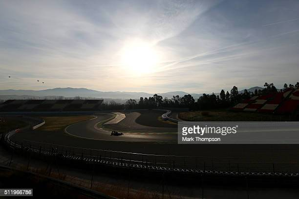 Jenson Button of Great Britain and McLaren Honda drives during day three of F1 winter testing at Circuit de Catalunya on February 24 2016 in Montmelo...