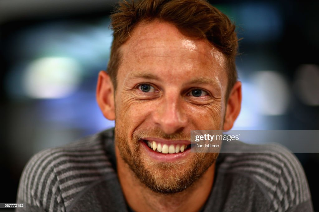 Jenson Button of Great Britain and McLaren Honda talks to the media during previews for the Monaco Formula One Grand Prix at Circuit de Monaco on May 24, 2017 in Monte-Carlo, Monaco.