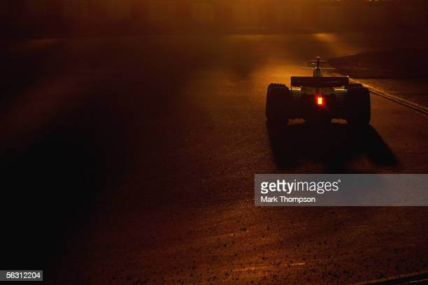 Jenson Button of Great Britain and team BAR Honda in actionduring winter testing at the Circuit De Catalunya on November 30 2005 in Barcelona Spain