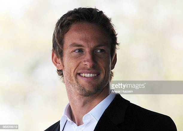 Jenson Button the 2009 Formula 1 World Champion receives the freedom of his home town of Frome in Somerset on May 4 2010 in Frome England