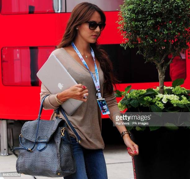 Jenson Button's girlfriend Jessica Michibata during the Paddock Day at Silverstone Circuit Silverstone