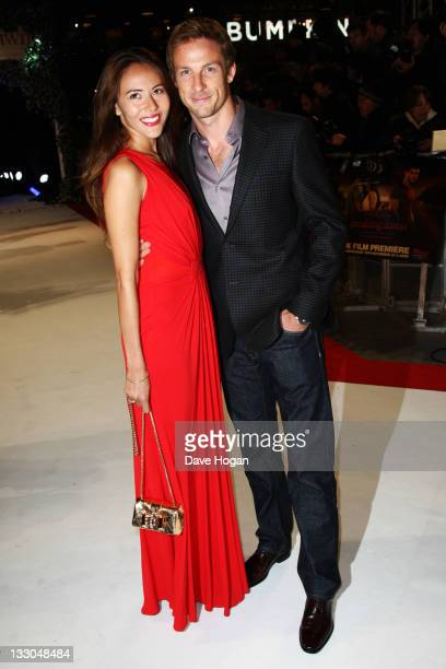 Jenson Butyton and Jessica Michibata attend the UK premiere of The Twilight Saga Breaking Dawn Part 1 at Westfield Stratford City on November 16 2011...