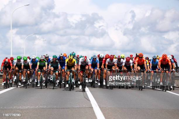 Jenthe Biermans of Belgium and Team Katusha-Alpecin / Mark Renshaw of Australia and Team Dimension Data / Julien Vermote of Belgium and Team...