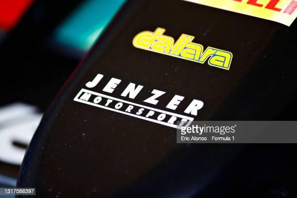 Jenzer Motorsport logo is seen at Circuito de Jerez on May 12, 2021 in Jerez de la Frontera, Spain.