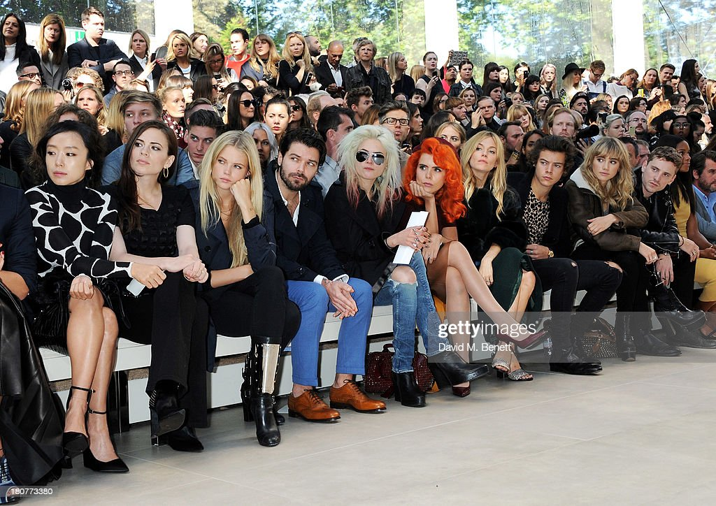 Burberry Prorsum - Front Row & Backstage: London Fashion Week SS14