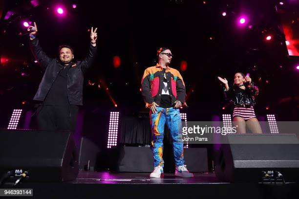 Jeon J Balvin and Anitta perform at Miami Bash 2018 at American Airlines Arena on April 14 2018 in Miami Florida
