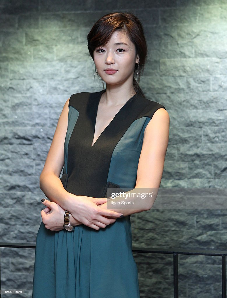 Jeon Ji-Hyun poses for photographs on January 23, 2013 in Seoul, South Korea.