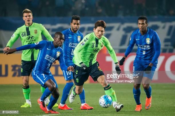 Jeonbuk Hyundai Motors defender Kim Hyungil dribbles during the AFC Champions League 2016 Group Stage Match Day 2 between Jiangsu FC vs Jeonbuk...