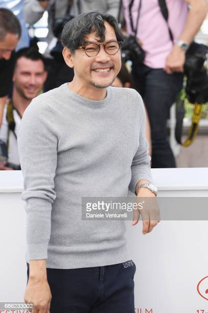 Jeong Jinyoung attends the 'Claire's Camera ' photocall during the 70th annual Cannes Film Festival at Palais des Festivals on May 21 2017 in Cannes...
