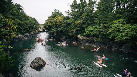 Jeongbang Waterfall in Jeju Island - gettyimageskorea