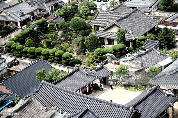 jeonju hanok village - jeonju stock pictures, royalty-free photos & images