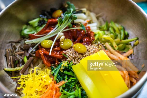 jeonju mixed rice - sungjin kim stock pictures, royalty-free photos & images