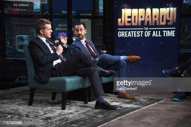 """Jeopardy"""" contestants Ken Jennings and Brad Rutter visit the Build Series to discuss the television event """"JEOPARDY! The Greatest of All Time"""" at..."""