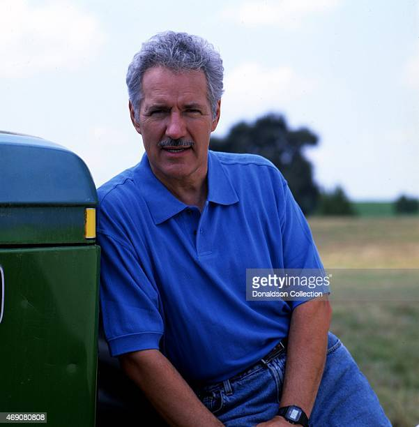 Jeopardy Game Show host Alex Trebek poses for a portrait session in 1997 in Los Angeles California