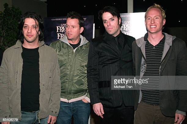 Jeordie White of Nine Inch Nails/Marilyn Manson Dave Quackenbush of The Vandals John Roecker director of Live Freaky Die Freaky and Josh Freese of...