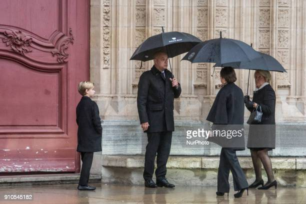 Jeorme Bocuse attend the funeral of the renowned French chef Paul Bocuse in Lyon France on January 26 2018 Bocuse often referred to as the quotpope...