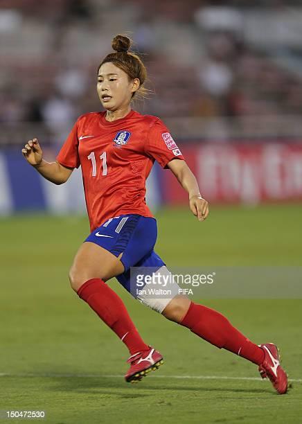 Jeoun Eunha of Korean Republic in action during the FIFA U-20 Women's World Cup Japan 2012, Group B match between Nigeria v Korean Republic at Komaba...