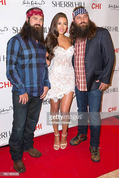 Jep Robertson Miss Universe 2012 Olivia Culpo and Willie Robertson attend the Evening By Sherri Hill Spring 2014 show at Trump Tower on September 9...