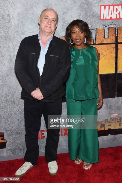Jeph Loeb and Alfre Woodard attend the 'Luke Cage' Season 2 premiere at The Edison Ballroom on June 21 2018 in New York City