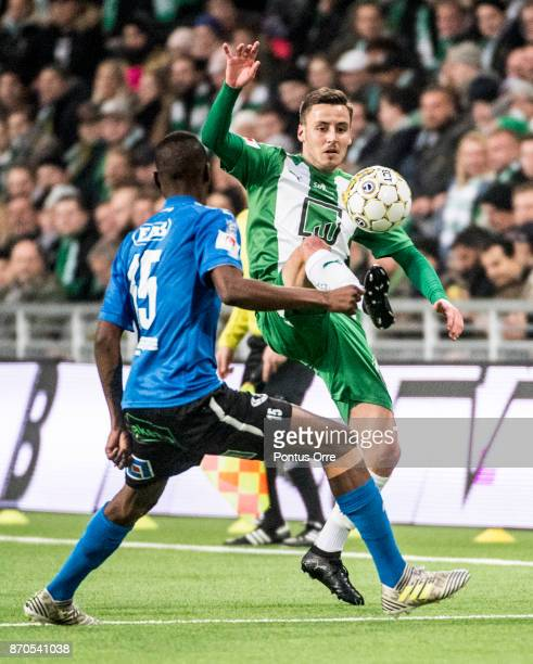 Jeppe Andrup Andersen of Hammarby IF during the Allsvenskan match between Hammarby IF and Halmstad BK at Tele2 Arena on November 5 2017 in Stockholm...