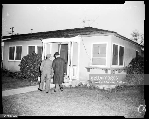 Jepsen murder 31 January 1956 Joe Jepsen Lieutenant Ernest JohnstonBarbara Jean Jepsen 18 years stabbed to deathPicture of murder house at 15050...