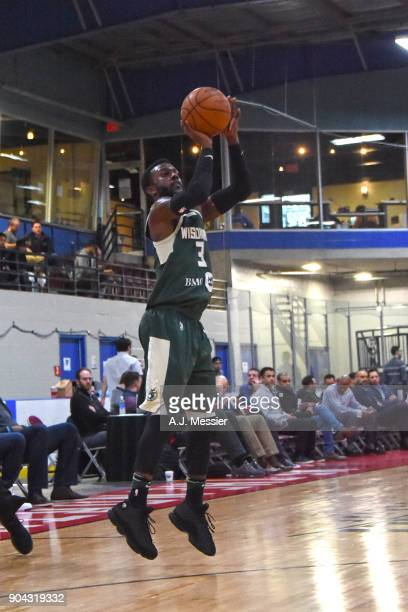 JeQuan Lewis of the Wisconsin Herd shoots the ball against the Austin Spurs during the GLeague Showcase on January 12 2018 at the Hershey Centre in...
