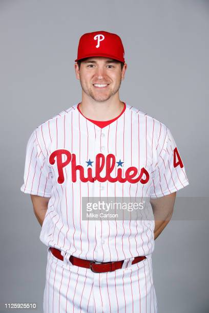 Jerad Eickhoff of the Philadelphia Phillies poses during Photo Day on Tuesday February 19 2019 at Spectrum Field in Clearwater Florida