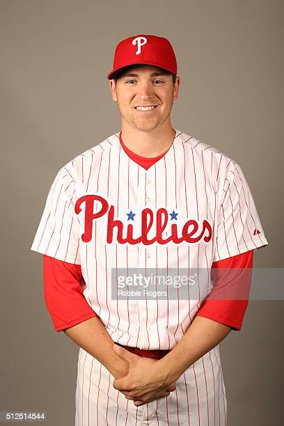 Jerad Eickhoff of the Philadelphia Phillies poses during Photo Day on Friday February 26 2016 at Bright House Field in Clearwater Florida