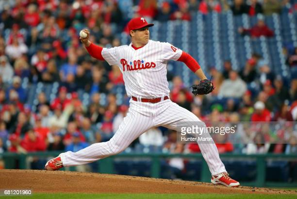 Jerad Eickhoff of the Philadelphia Phillies throws a pitch in the second inning during a game against the Seattle Mariners at Citizens Bank Park on...