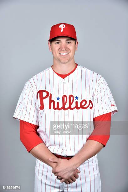 Jerad Eickoff of the Philadelphia Phillies poses during Photo Day on Monday February 20 2017 at Spectrum Field in Clearwater Florida