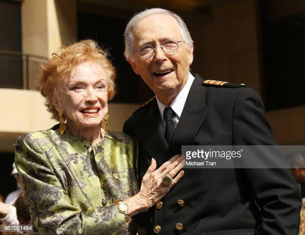 Jeraldine Saunders and Bernie Kopell attend the Princess Cruises and the original cast of The Love Boat receive a Friend of the Hollywood Walk of...