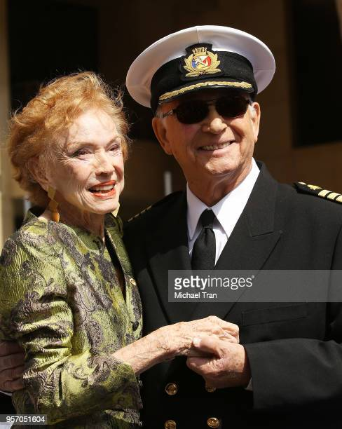 Jeraldine Saunders and Gavin MacLeod attend the Princess Cruises and the original cast of The Love Boat receive a Friend of the Hollywood Walk of...