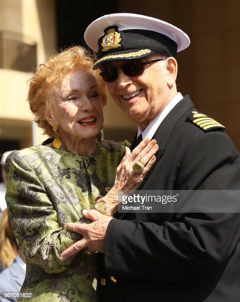 Jeraldine Saunders and Gavin MacLeod attend the Princess Cruises and the original cast of 'The Love Boat' receive a Friend of the Hollywood Walk of...
