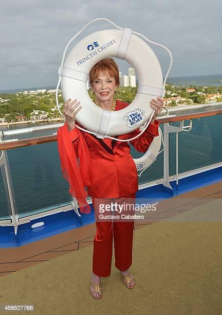 Jeraldine Saunders attends Love Boat Cast Christening Of Regal Princess Cruise Ship at Port Everglades on November 5 2014 in Fort Lauderdale Florida