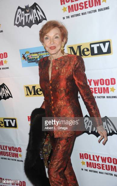 Jeraldine Saunders attends The Batman '66 Exhibit Opening held at The Hollywood Museum on January 10 2018 in Hollywood California