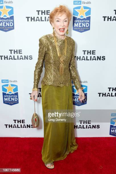 Jeraldine Saunders attends The Thalians Holiday Party with Kira Reed Lorsch as Chair at Bel Air Country Club on December 1 2018 in Los Angeles...
