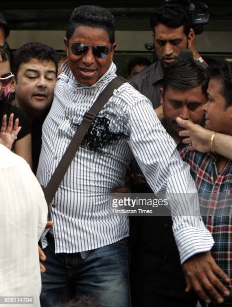 Jeramaine Jackson elder brother of Michael Jackson arrived in Mumbai on Friday to record international music album with Adnan Sami at Sahar airport