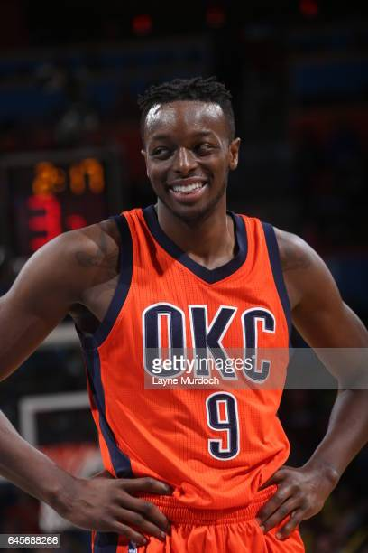 Jerami Grant of the Oklahoma City Thunder is seen during the game against the New Orleans Pelicans on February 26 2017 at the Chesapeake Energy Arena...