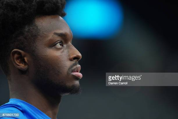 Jerami Grant of the Oklahoma City Thunder looks on before the game against the San Antonio Spurs on November 17 2017 at the ATT Center in San Antonio...