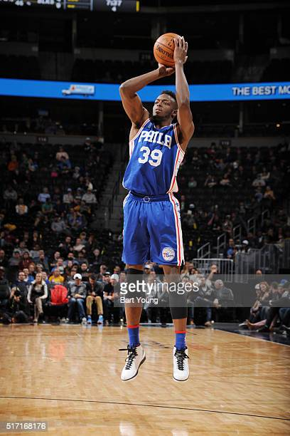 Jerami Grant of the Philadelphia 76ers shoots the ball against the Denver Nuggets on March 23 2016 at the Pepsi Center in Denver Colorado NOTE TO...