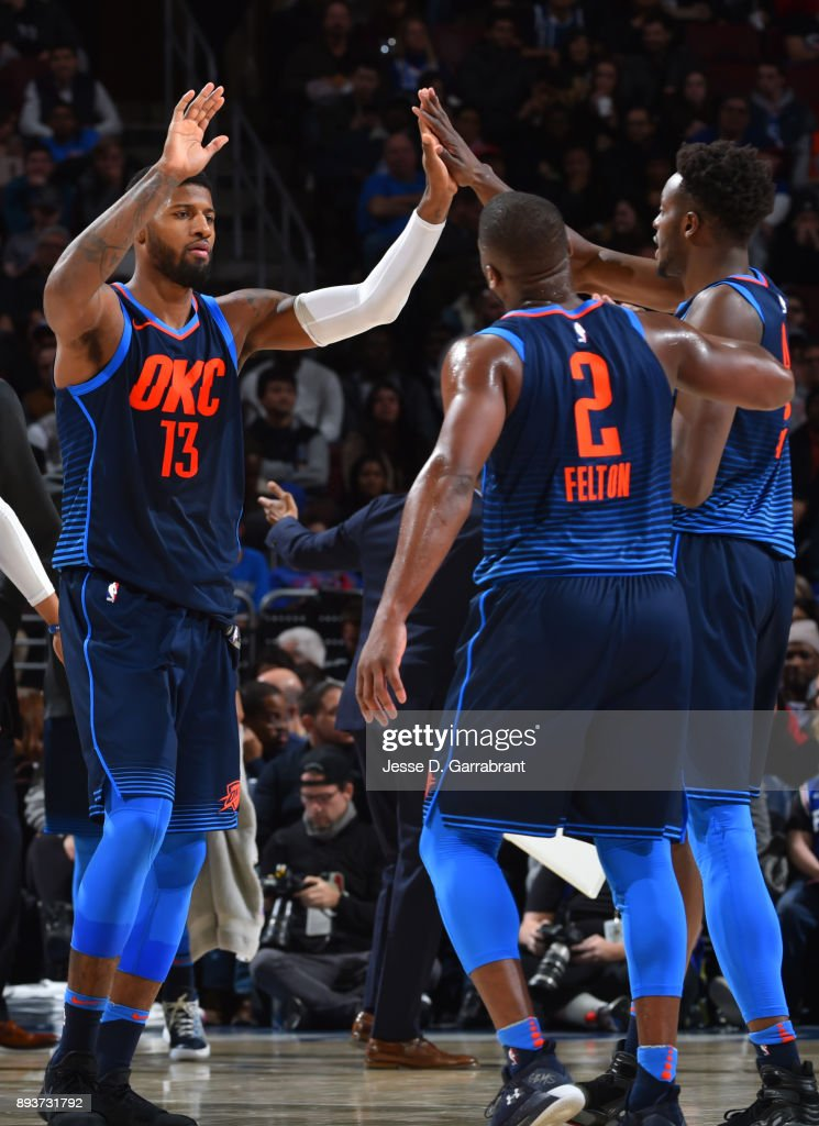 Philadelphia 76ers V Oklahoma City Thunder : News Photo