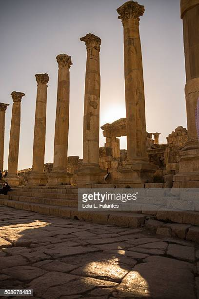 jerash, cathedral - roman decapolis city stock pictures, royalty-free photos & images