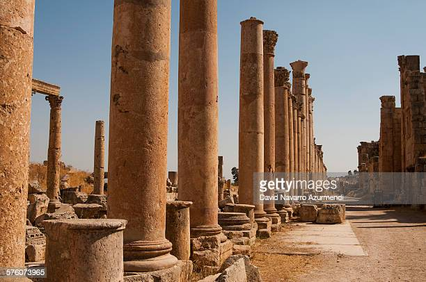 jerash - roman decapolis city stock pictures, royalty-free photos & images