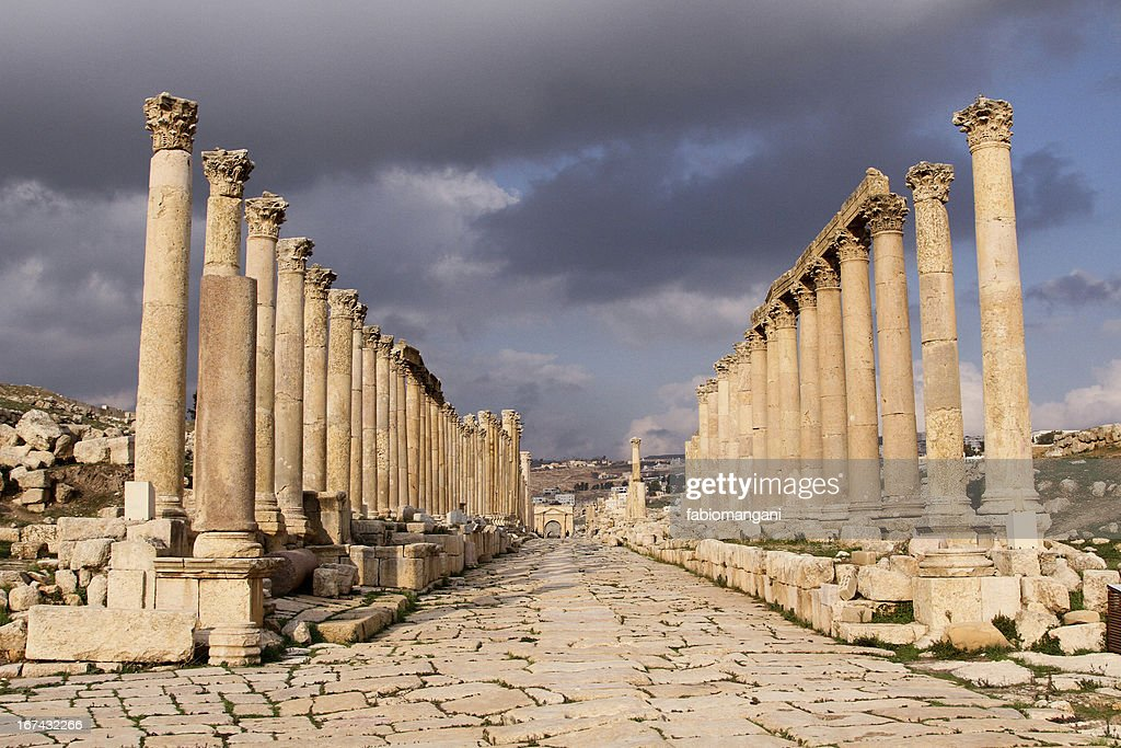 Templo de Jerash : Foto de stock