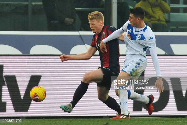Jerdy Schouten of Bologna FC in action during the Serie A match between Bologna FC and Brescia Calcio at Stadio Renato Dall'Ara on February 01 2020...