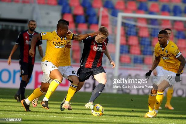 Jerdy Schouten of Bologna FC in action during the Serie A match between Bologna FC and Udinese Calcio at Stadio Renato Dall'Ara on January 06, 2021...