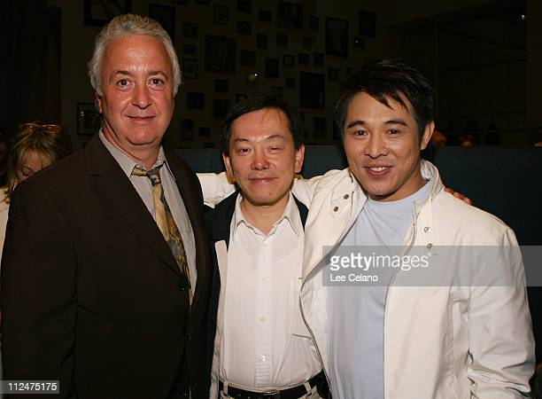 Jere Hausfater of Miramax International, Bill Kong, producer and Jet Li
